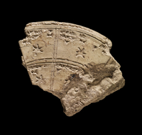 Fragment of a circular clay tablet with a record of constell 20065000720| 写真素材・ストックフォト・画像・イラスト素材|アマナイメージズ