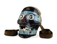 Mosaic skull of Tezcatlipoca 20065000772| 写真素材・ストックフォト・画像・イラスト素材|アマナイメージズ