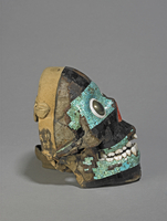 Mosaic skull of Tezcatlipoca, right side view