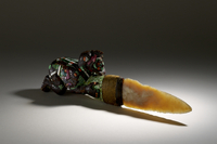 Sacrificial Knife with mosaic handle and chalcedony blade