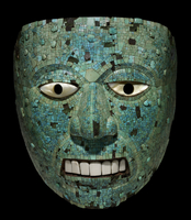 Mosaic mask of a human face