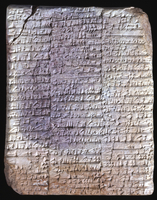 Clay tablet; Ur III. Account of beer, oil and flour for mess