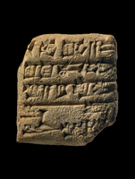 Clay tablet; receipt for garments to be shipped to Dilmun; d