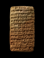 Clay tablet; wood and many other items needed for the boats