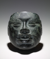 Model, mask, Olmec, Peten