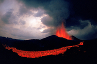 Lava flow from the Kimanura volcano, Virunga NP, Zaire/DR Co