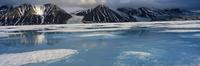 High arctic landscape in spring, -40 degrees C, Bylot Is, Ba