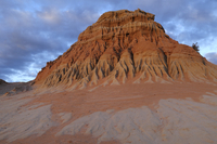 Eroded mud and sand of Walls of China, Mungo National Park,