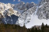 Skrlatica from the Vrsic Pass, Spik mountains, Triglavski Na