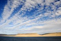 Devon Island, under cloud covered sky, Nunavut, Canada.  Aug