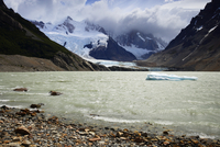 Laguna Torre and Grande glacier below Cerro Torre (3102 m),