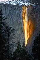 The snow at Horsetail Falls' begins to melt in mid-February,