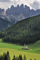 The chapel Sankt Johann at Val di Funes / Villn�sstal, in the