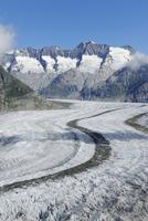 Aletsch Glacier, UNESCO World Heritage Site. Jungfrau-Aletsc