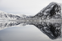 Arctic mountains and reflection in water. Nordaustlandet, Sv 20070001938| 写真素材・ストックフォト・画像・イラスト素材|アマナイメージズ
