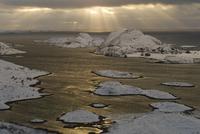 View over Helgelandskysten from Heroy, Helgeland, Nordland, Norway, February 2009