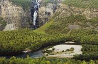 Mollisfossen waterfall, Reisa National Park, Troms, Norway, August 2006