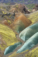 Colourful mountain landscape, Landmannalaugar, Sveinsgil, Fjallabak Nature Reserve, Iceland, August 2010