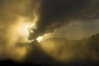 Fumarole at sunrise at the Hverir, Iceland, July 2008