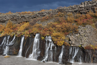 The Hraunfossar waterfall in autumn, Iceland, September 2010