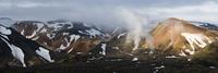 Rhiolite mountains at Landmannalaugar. Rhyiolite volcanism. Iceland.June 2008