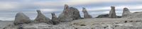 Rock formations, Trollholmen, Trollholmsundet, Porsanger, Finnmark, Norway, July 2006