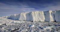 Broken ice floating on sea, Svalbard, Norway, June 2009