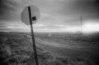 Stop sign at road