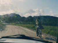Cyclist in Brazil
