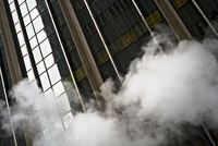 Steam and skyscraper
