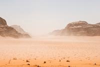 Sandy, rocky desert