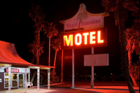 Hawaiian Motel and palms