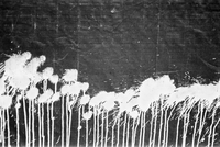 White paint splattered across a tarpaulin surface Amsterdam Netherlands           20071006661| 写真素材・ストックフォト・画像・イラスト素材|アマナイメージズ