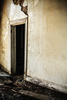 Door in decaying house