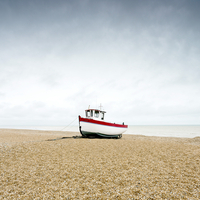 Fishing boat on beach