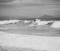 Surfer in the sea. Hossegor, France