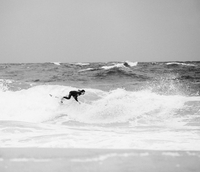 Surfing in the infamous gravel pit in Hossegor, France