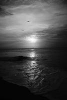 Sun setting over the Luccadive sea. Kerala, India