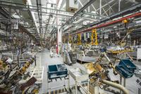 Interior of a car factory