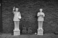 Two statues of Mao Zedong. Shanghai, China
