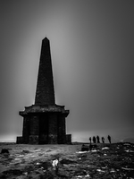Stoodley Pike memorial to the Boer War. Yorkshire, England, United Kingdom