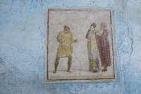 Old Roman painting at Pompeii archaeological site. Italy