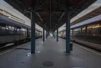 Train station platform. Munich, Germany