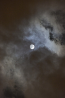 Full moon with threatening clouds