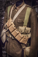WWI military uniform on display