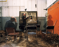 Man teaching a vanishing audience 20071011216| 写真素材・ストックフォト・画像・イラスト素材|アマナイメージズ
