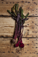 Still life of beetroot on wooden table. London, England, United Kingdom