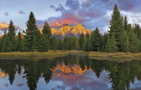 mountain mirroring 20074000080  写真素材・ストックフォト・画像・イラスト素材 アマナイメージズ