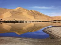 sand dunes mirroring 20074000203| 写真素材・ストックフォト・画像・イラスト素材|アマナイメージズ