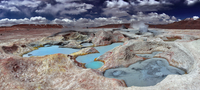 colorful earht - geothermal field